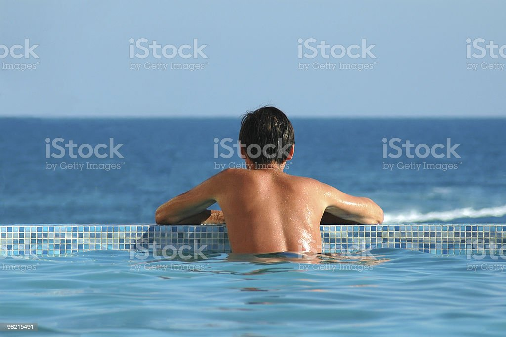 Man in water pool royalty-free stock photo