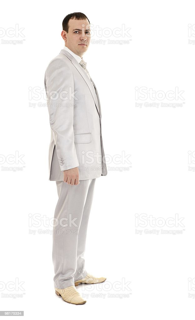 man in wedding suit royalty-free stock photo