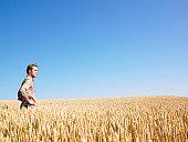 istock Man in Wheat Field 147032927