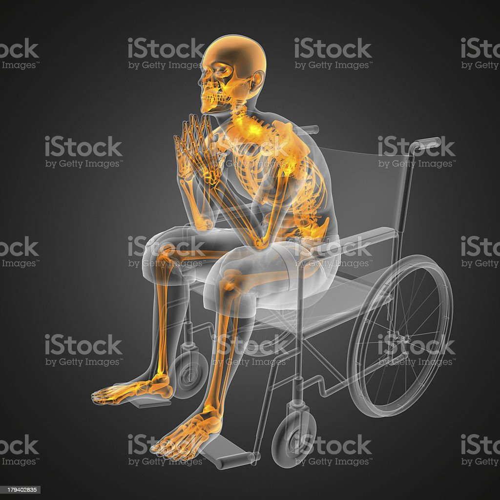 Man in wheelchair royalty-free stock photo