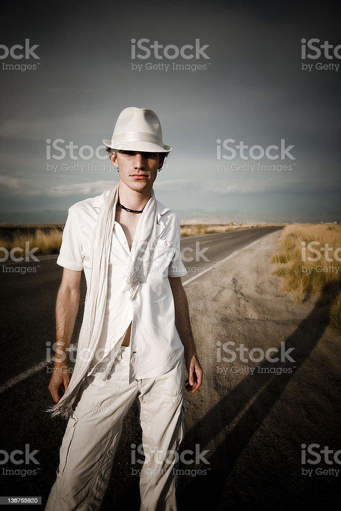 Man in White royalty-free stock photo