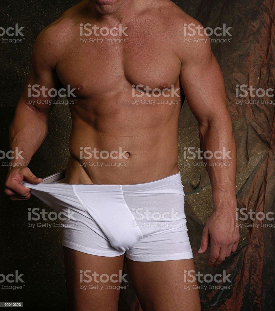 Man in white shorts 2 royalty-free stock photo