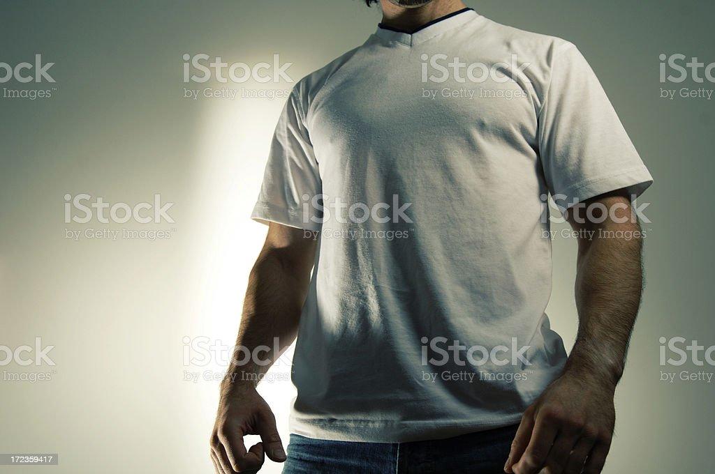 man in white t shirt royalty-free stock photo