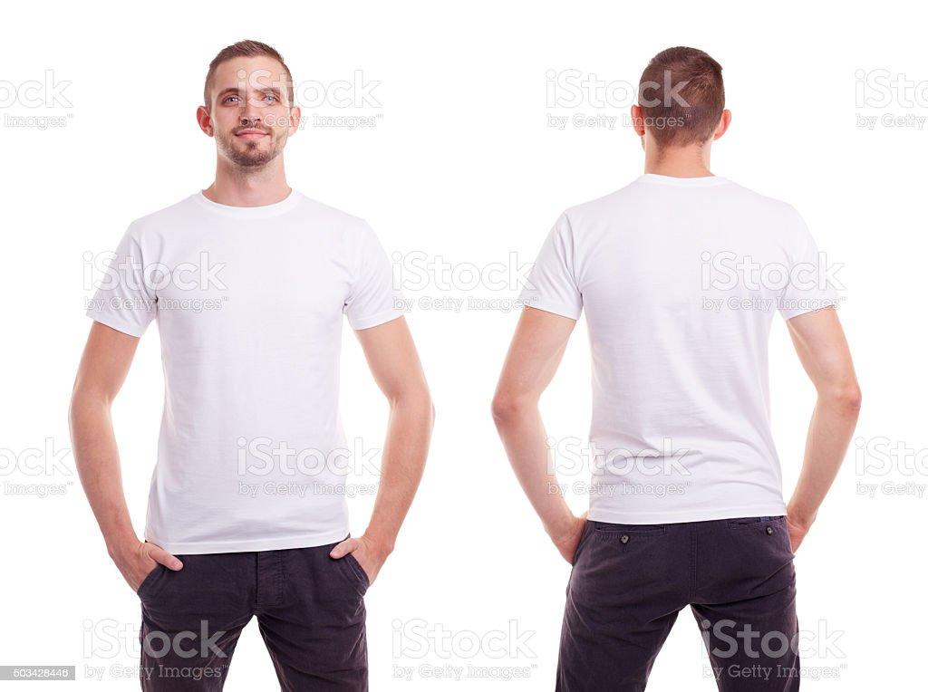 Man in white t-shirt foto
