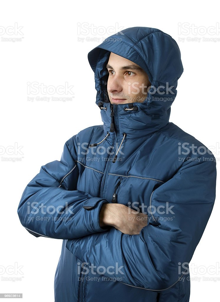 Man in winter clothing royalty-free stock photo