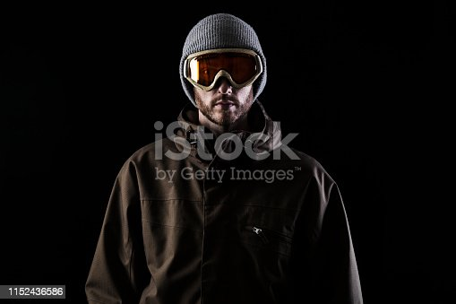 istock Man in winter sports clothing 1152436586