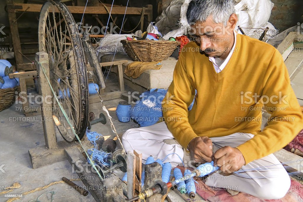 Man in workshop royalty-free stock photo