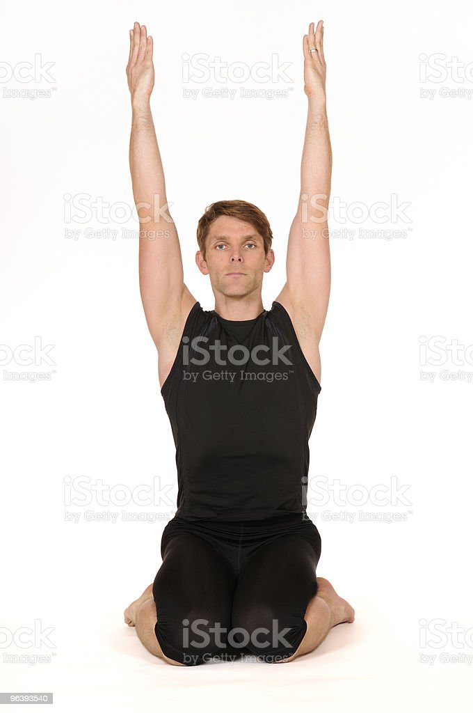 man in yoga position - Royalty-free Adult Stock Photo