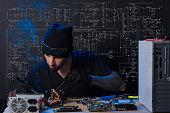 istock man is engaged in repair of computers 687418588