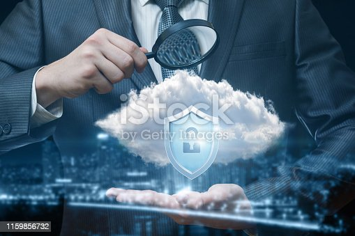 1156072209istockphoto Man is exploring the security system . 1159856732