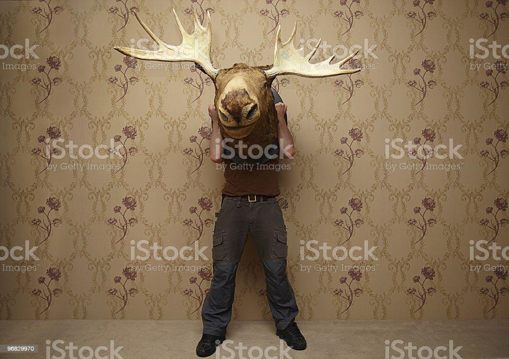 man is hiding stock photo