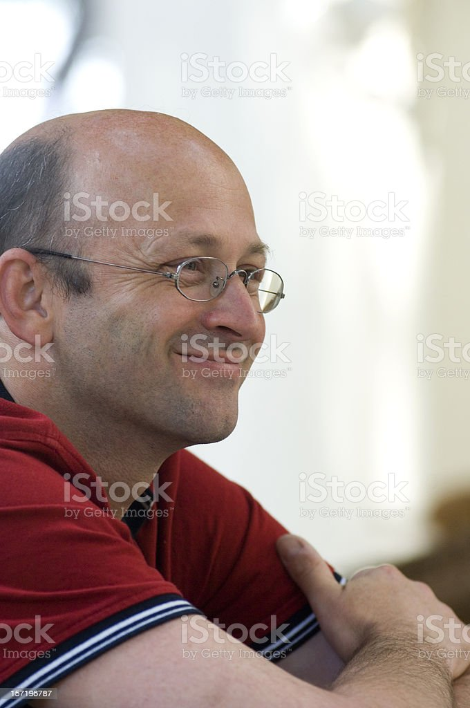 Man is laughing royalty-free stock photo