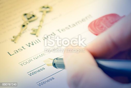 584597964 istock photo Man is preparing to sign a form 530767240