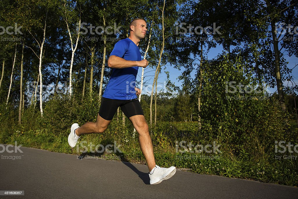 Man jogging in park royalty-free stock photo