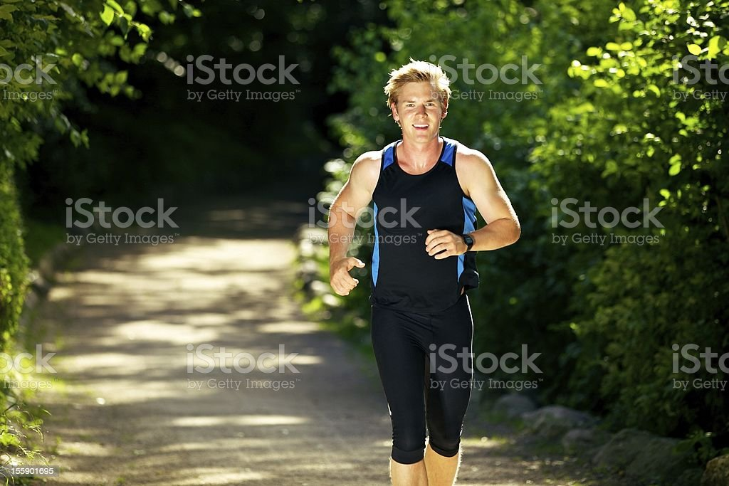 Man Jogging Outdoors royalty-free stock photo