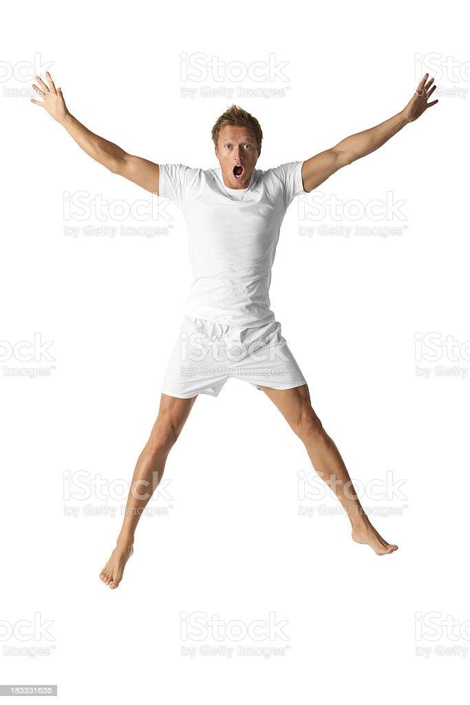 Homme sautant et Crier - Photo