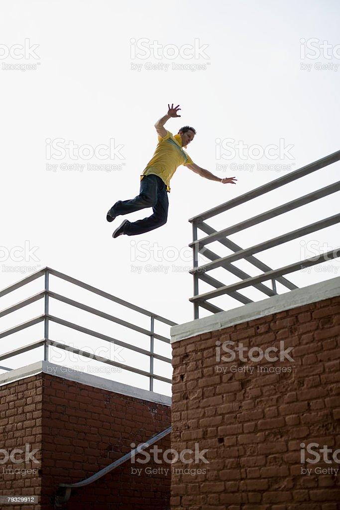A man jumping 免版稅 stock photo