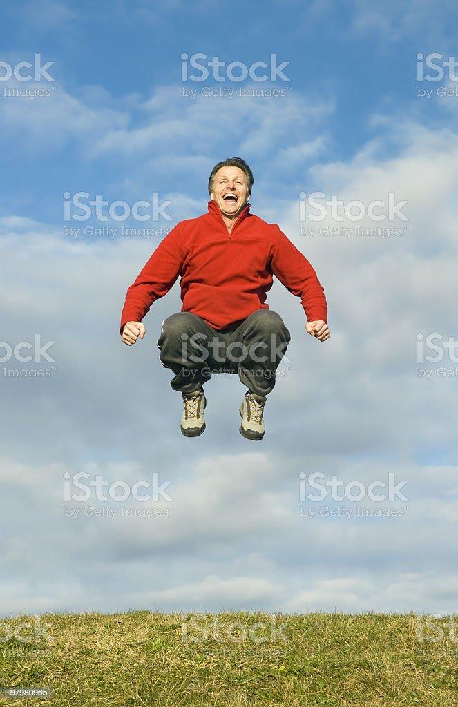 man jumping royalty-free stock photo