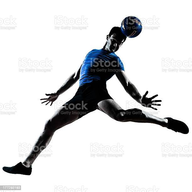Man jumping to perform soccer move with their head picture id177293193?b=1&k=6&m=177293193&s=612x612&h= v4zl7kualy3obgmoxntxqdi7s31klyzusqqeqda1 o=