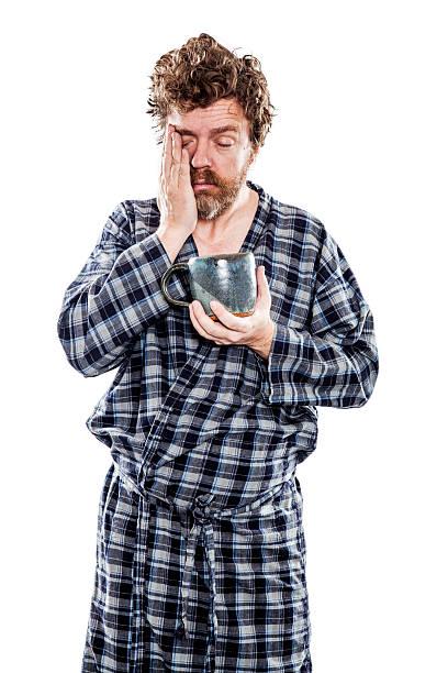 Man Just Waking Up stock photo
