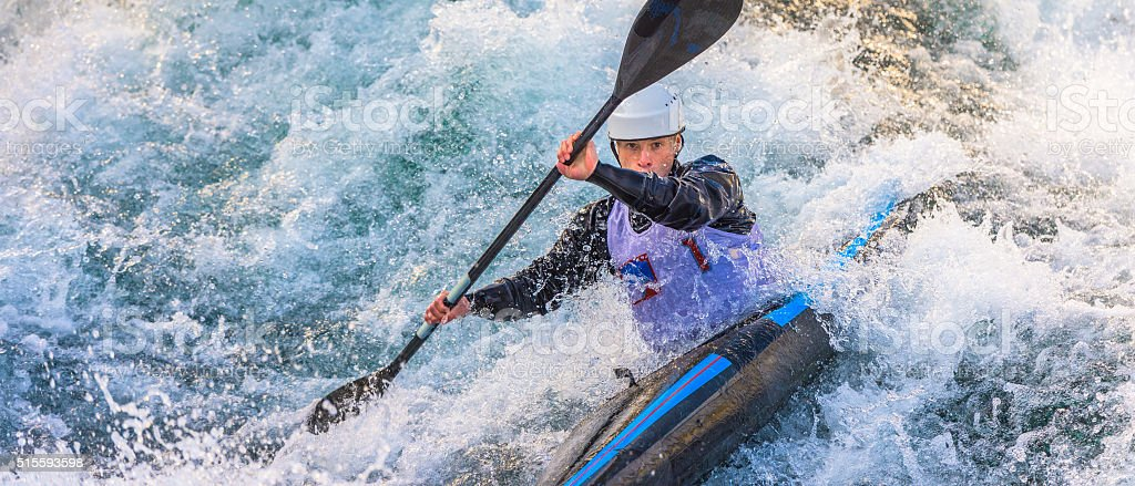 Homme en kayak - Photo