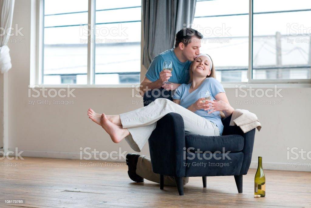Man Kissing a Woman royalty-free stock photo