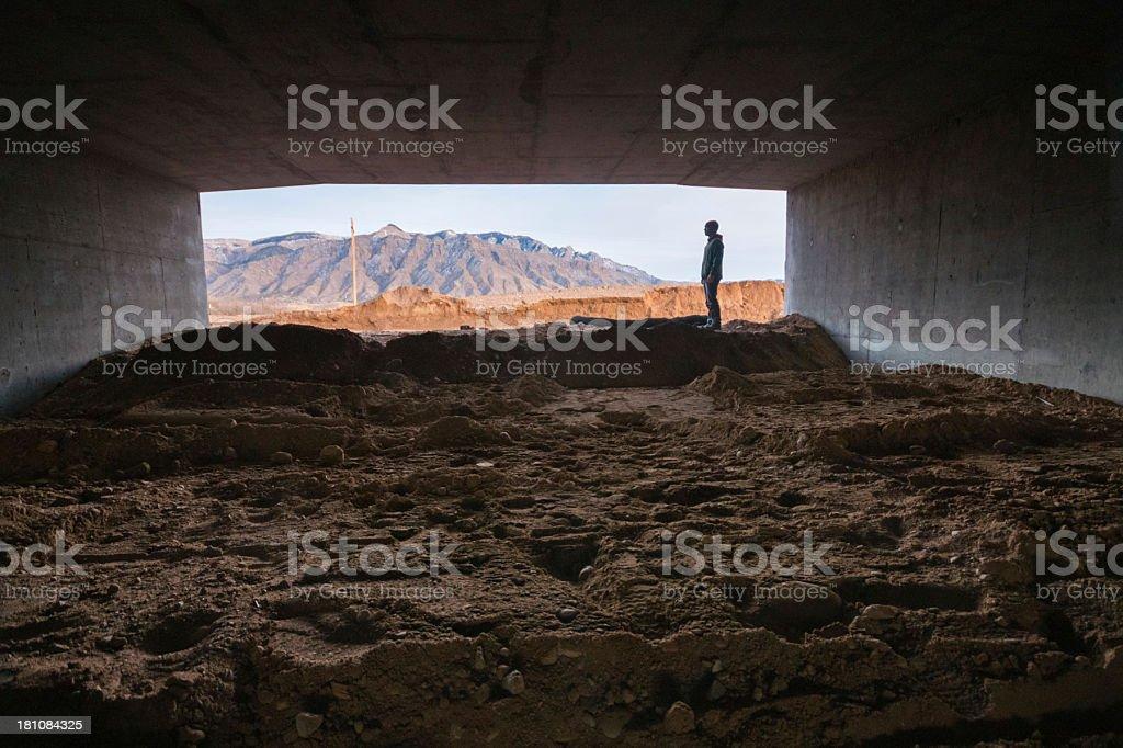 man landscape royalty-free stock photo