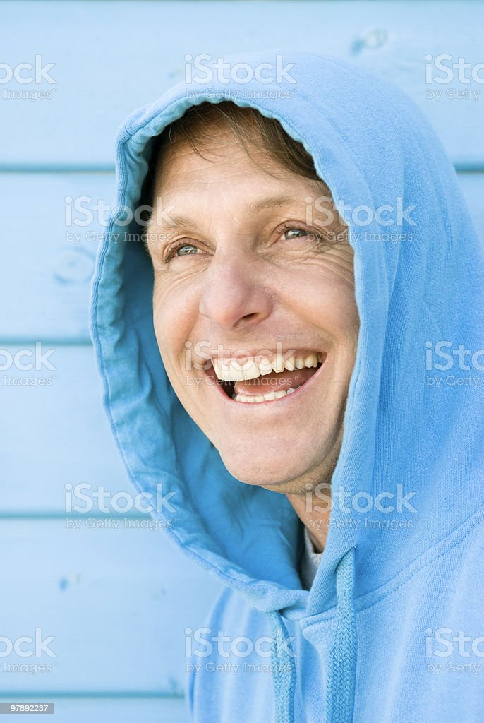 Man laughing royalty-free stock photo