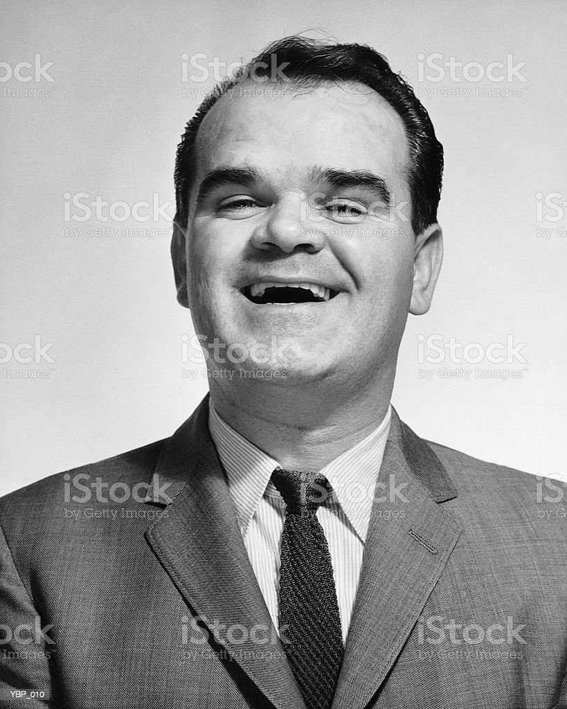 Man laughing royalty free stockfoto