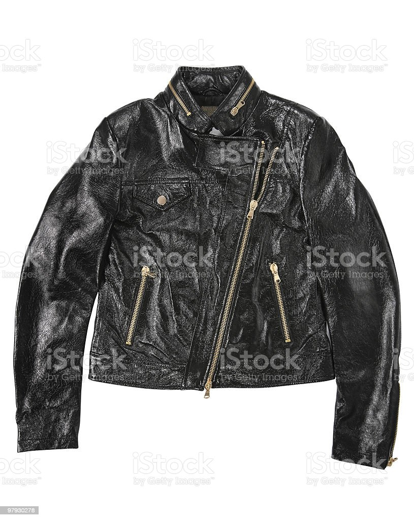 Man leather jacket royalty-free stock photo