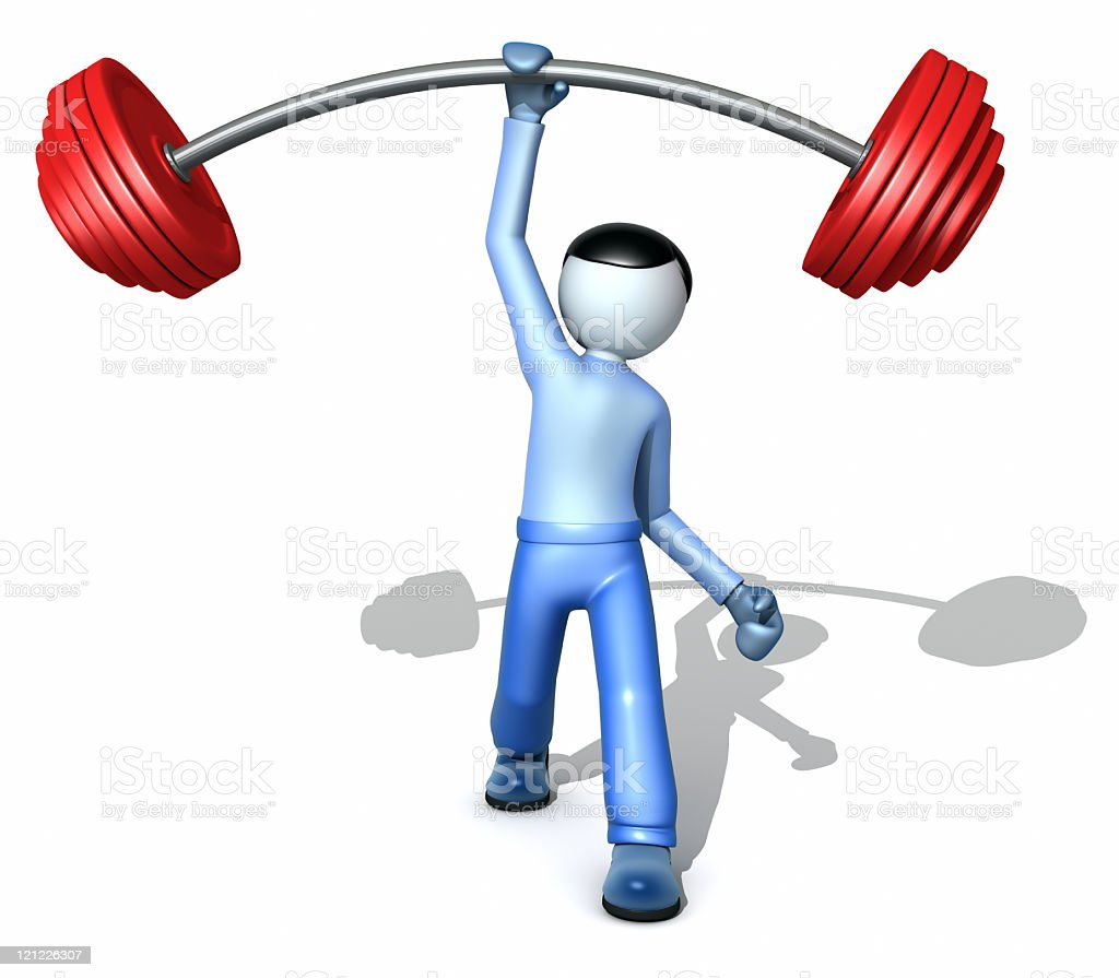 Man lifting  a weight royalty-free stock photo