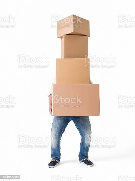 Man lifting boxes on white background picture id484845684?b=1&k=6&m=484845684&s=612x612&h=pu2 ajyuuodbdy1k80weryfvfltyyijtubwmm4wii10=