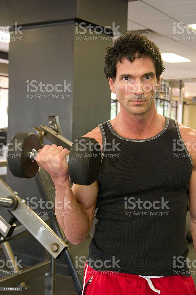 Man Lifting Weights 2 royalty-free stock photo