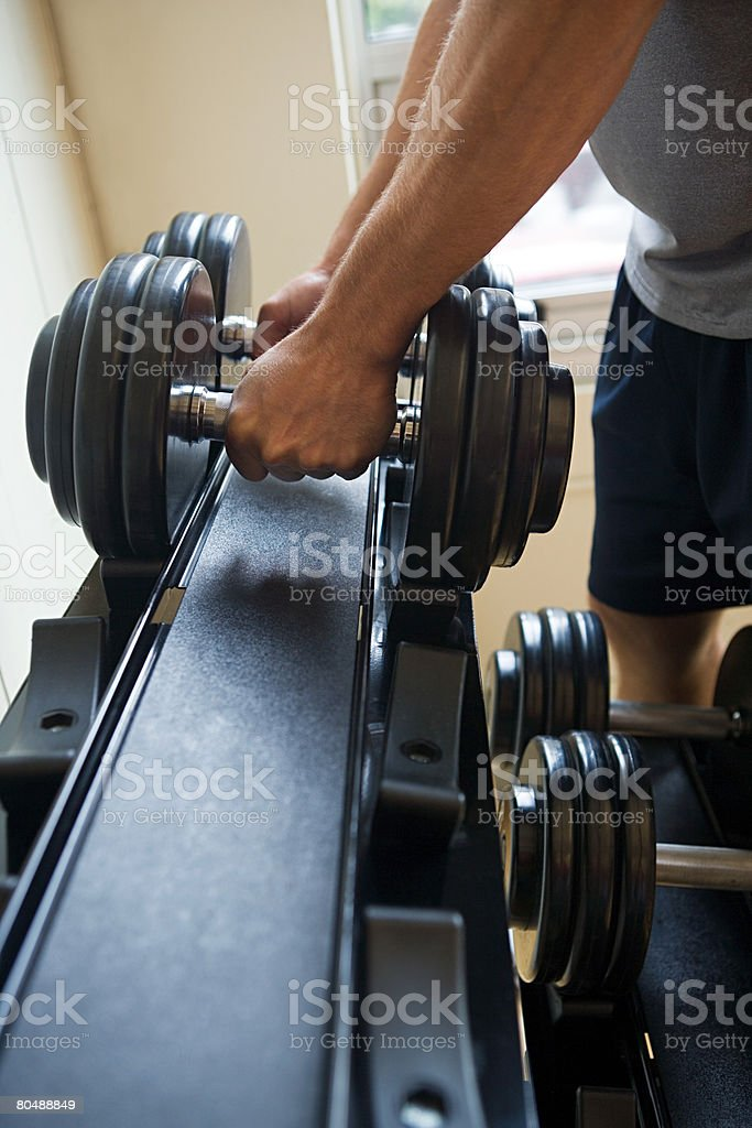 A man lifting weights royalty-free stock photo