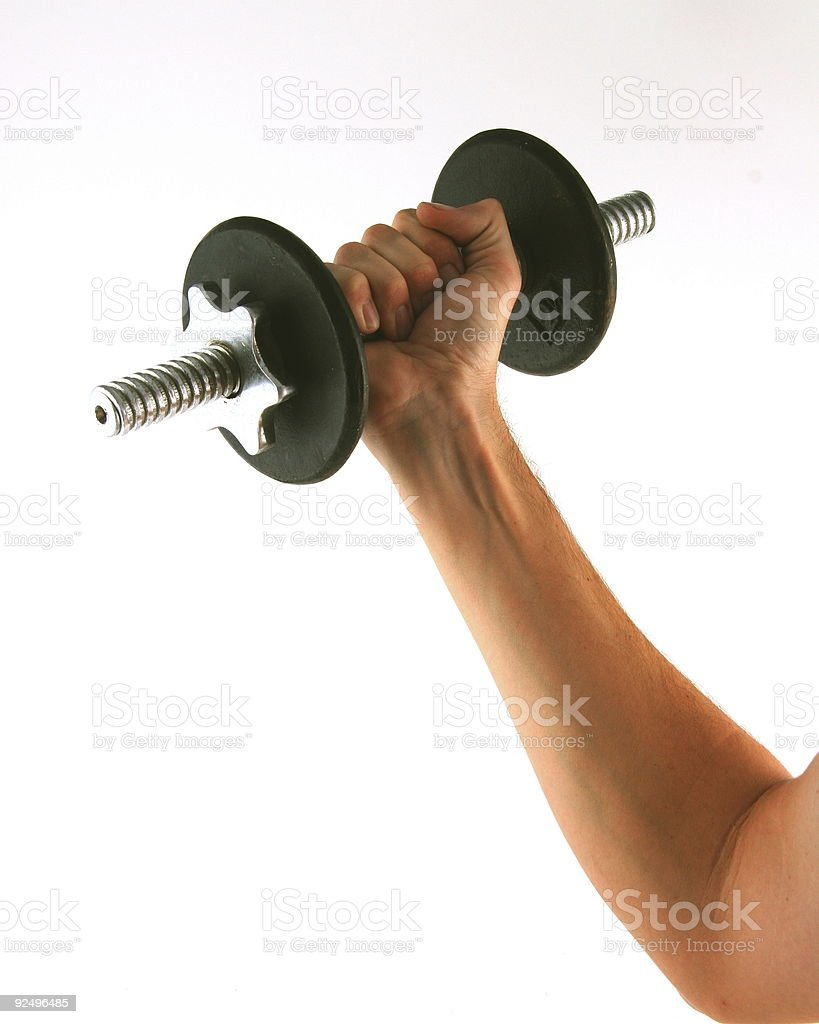 Man Lifting Weights royalty-free stock photo