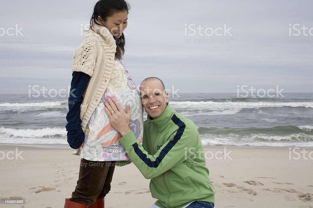 Man Listening for Baby royalty-free stock photo