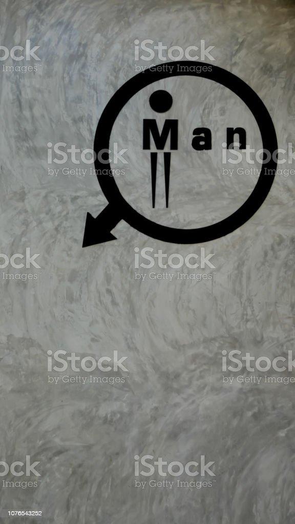 Mann-Logo-Toilette – Foto