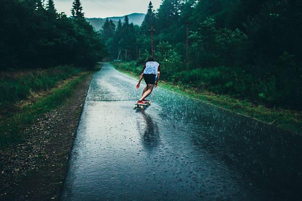Man longboarding stock photo