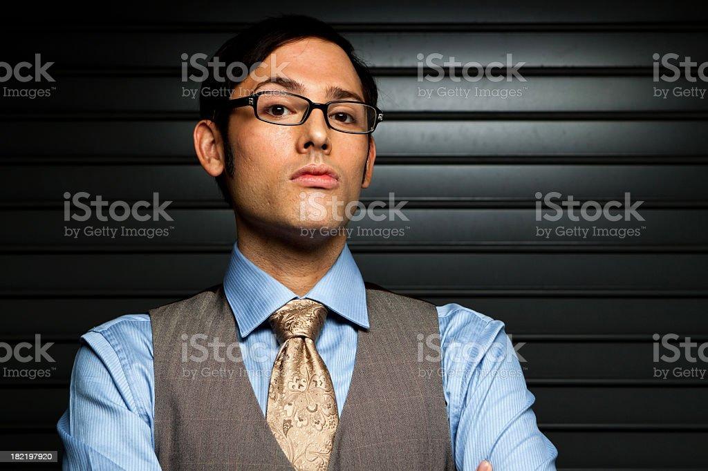 Man Looking at Camera royalty-free stock photo