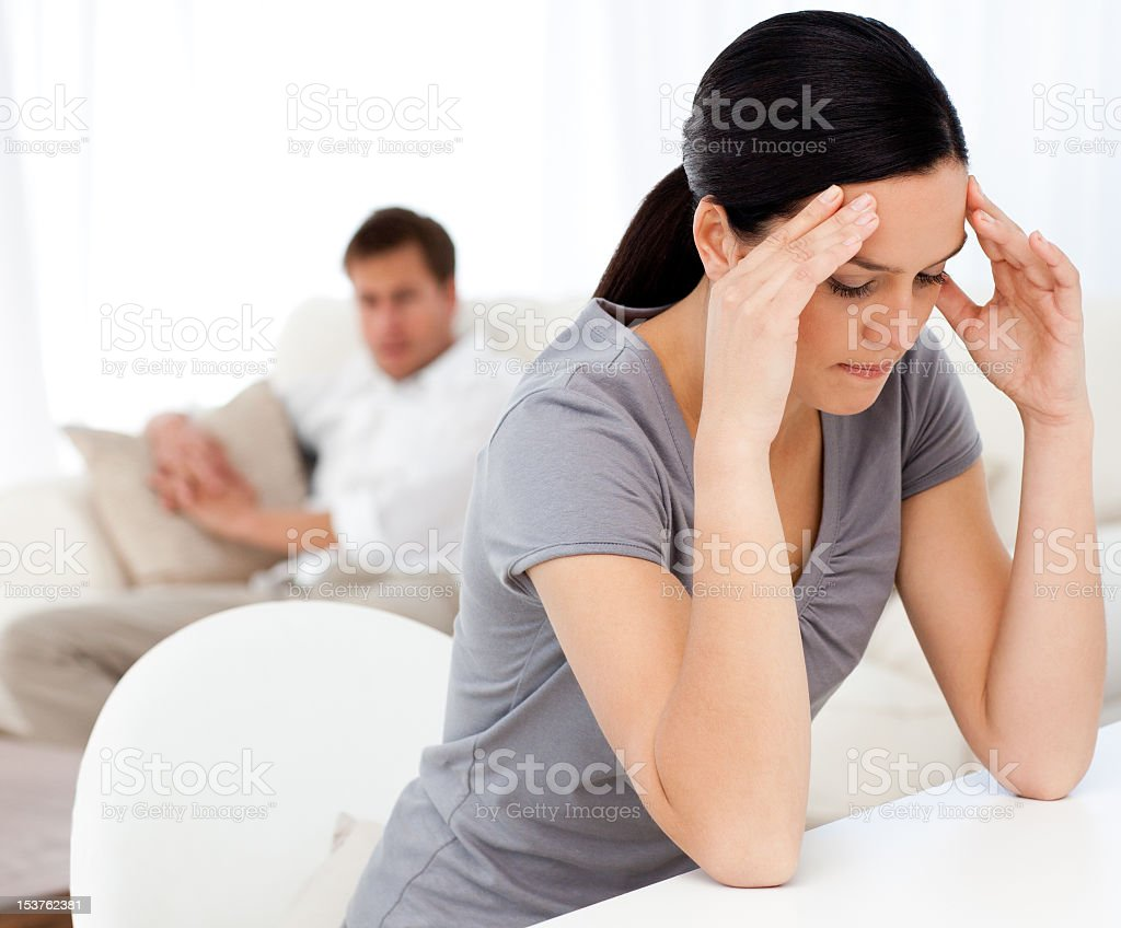 Man looking at his girlfriend royalty-free stock photo