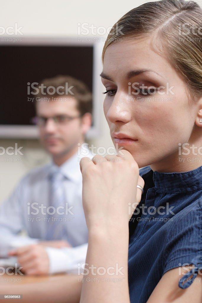 man looking at sad woman - Royalty-free Adult Stock Photo