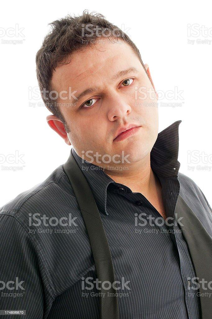 Man Looking at the camera royalty-free stock photo