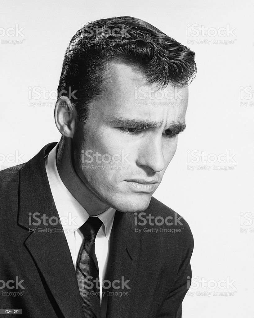 Man looking concerned royalty-free stock photo