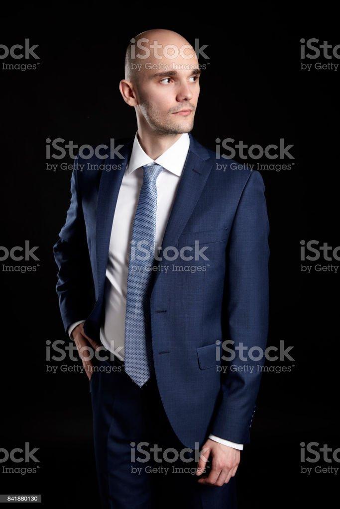 Man Looking Left stock photo
