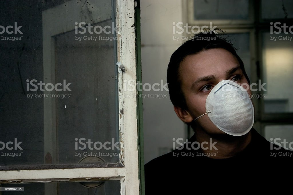 Man Looking Out To The Polluted Future royalty-free stock photo