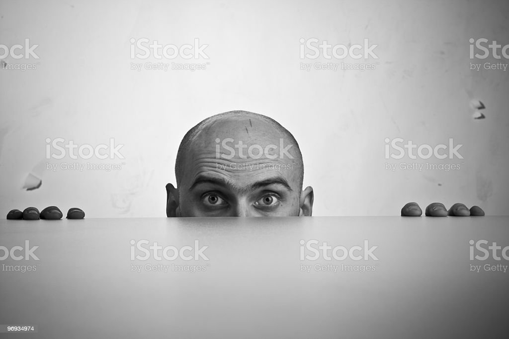 Man Looking Stressed royalty-free stock photo