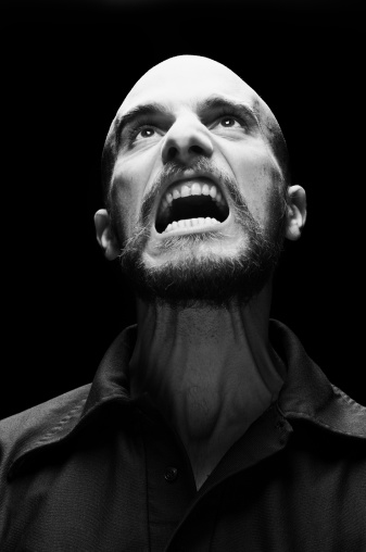 Image result for angry person looking up