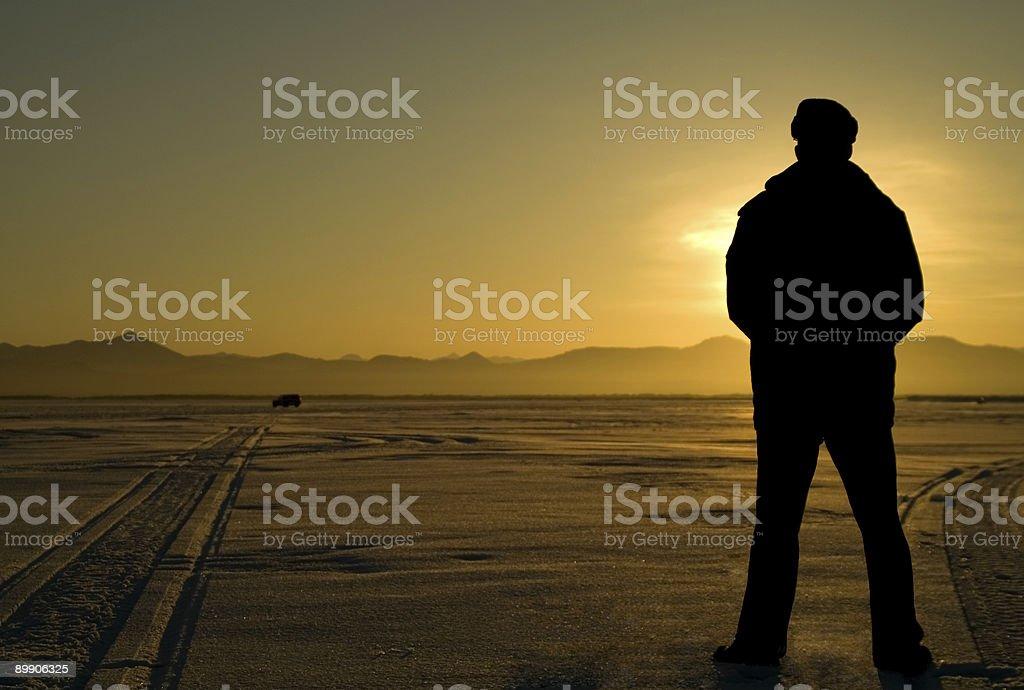 Man looks far. royalty free stockfoto
