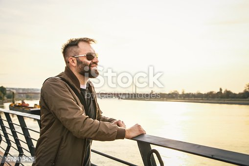 istock A man looks into the river 1078413426