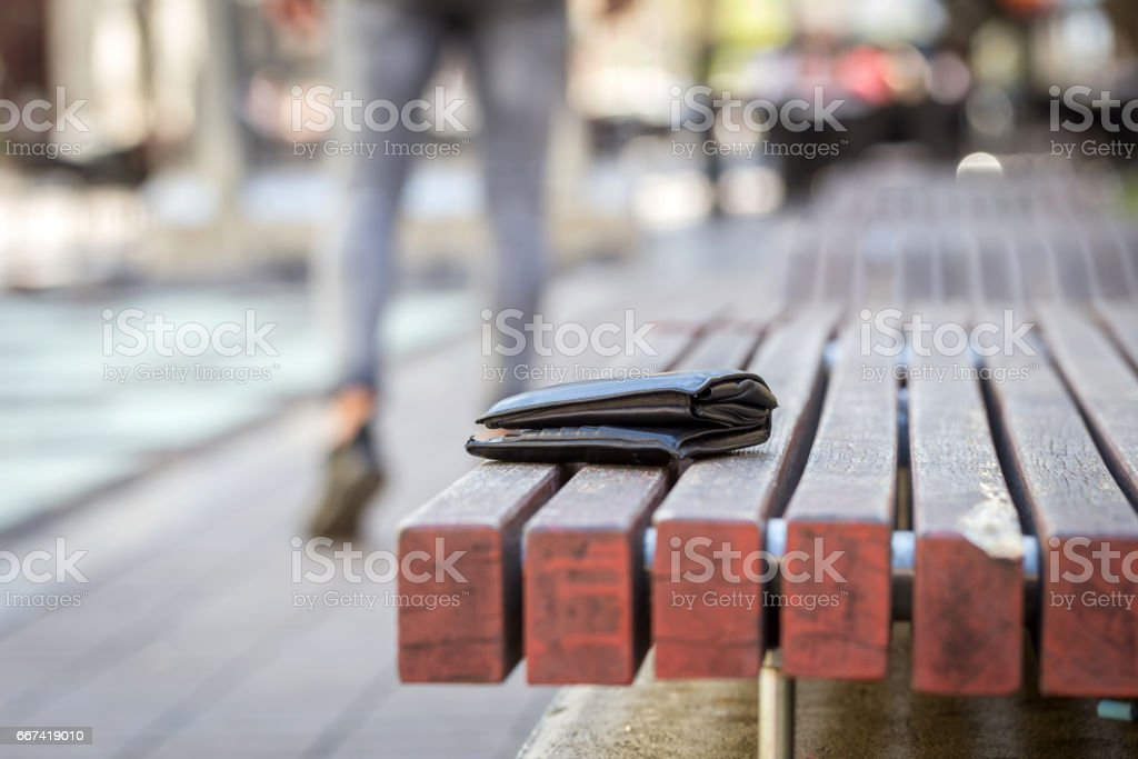 man lost his wallet stock photo